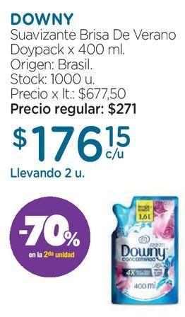 Oferta de Suavizante para ropa Dp DownyBrisa de verano x 400 ml  por $271