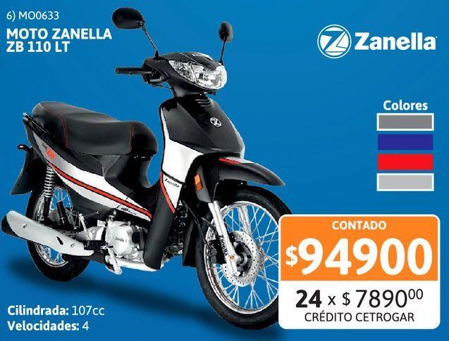 Oferta de Motoc Zanella ZB 110D /// LT R/T por $94900