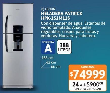 Oferta de Helad Patrick 394Ls HPK-151M11S C/Disp Silver por $74999