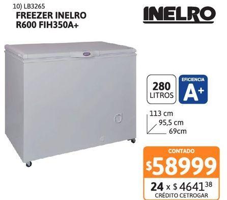 Oferta de Freez Inelro 280L Refri R600 FIH350A+ por $58999
