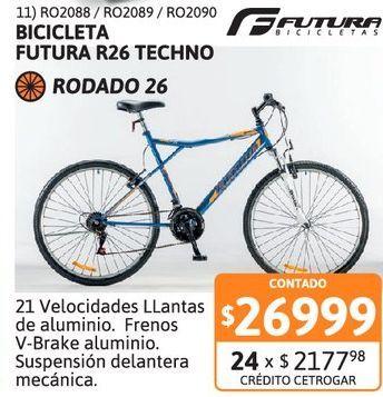 Oferta de Bicic Futura R26 TECHNO FS 5178 AzulPru por $26999
