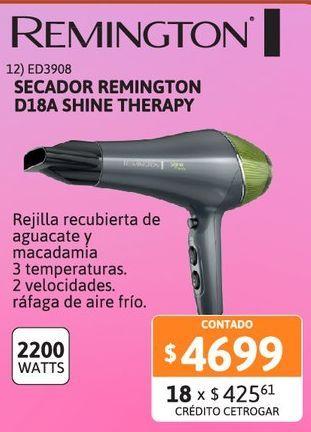 Oferta de Secador Remington D18A Shine AC por $4699