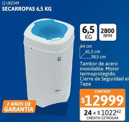 Oferta de Secarr Drean QV 6.5kg por $12999