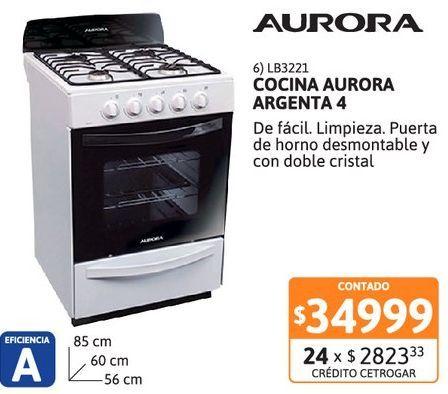 Oferta de Cocina Aurora Argenta 4 4 horn Bl. por $34999