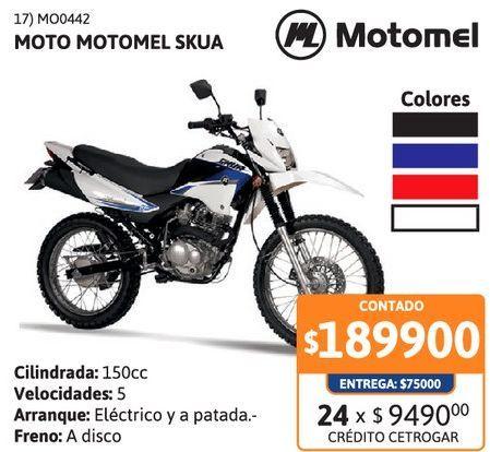Oferta de Motoc Motomel CX150 // Skua 150 RY-FD por $189900