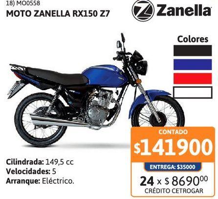 Oferta de Motoc Zanella RX150 Z7 RY-Nac por $141900