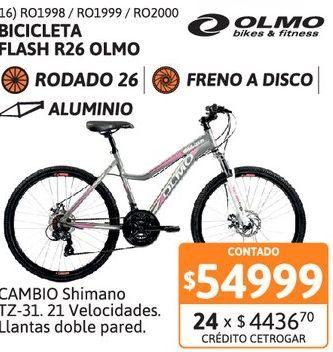 Oferta de Bicic Olmo R26 Dama Flash 265 T18 Gris por $54999