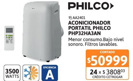 Oferta de Acon Portat Philco 3500W FC PHP32HA3AN por $50999