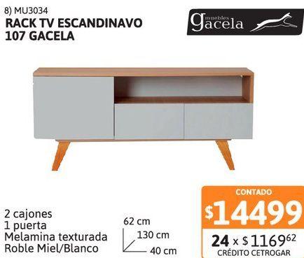 Oferta de Rack TV escandinavo 107 Gacela por $14499