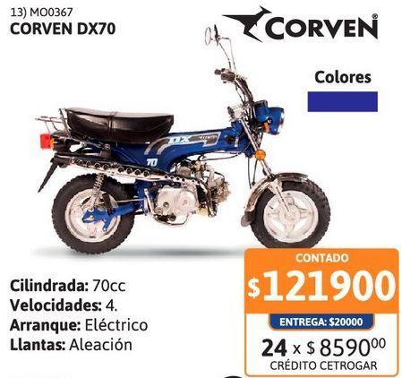 Oferta de Motoc Corven DX 70 AC-Nac por $121900