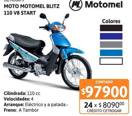 Oferta de Motoc Motomel B110 /// V8 Start por $97900