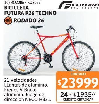 Oferta de Bicic Futura R26 TECHNO 26 5176 Blanco por $23999