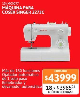 Oferta de Maq para coser Singer Trad.2273 BL por $43999