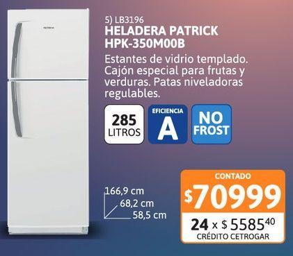 Oferta de Helad NF Patrick 285Ls HPK-350M00B NF BL por $70999