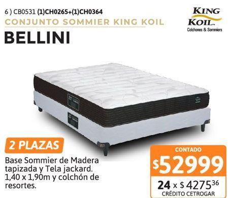 Oferta de Conj KK Bellini 140+Sommier por $52999