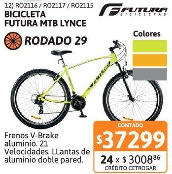Oferta de Bicic Futura R29 MTB LYNCE 21V AMR Fluo por $37299