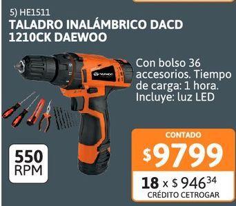 Oferta de Talad Inalambrico Daewoo c/bolso 36 acc por $9799