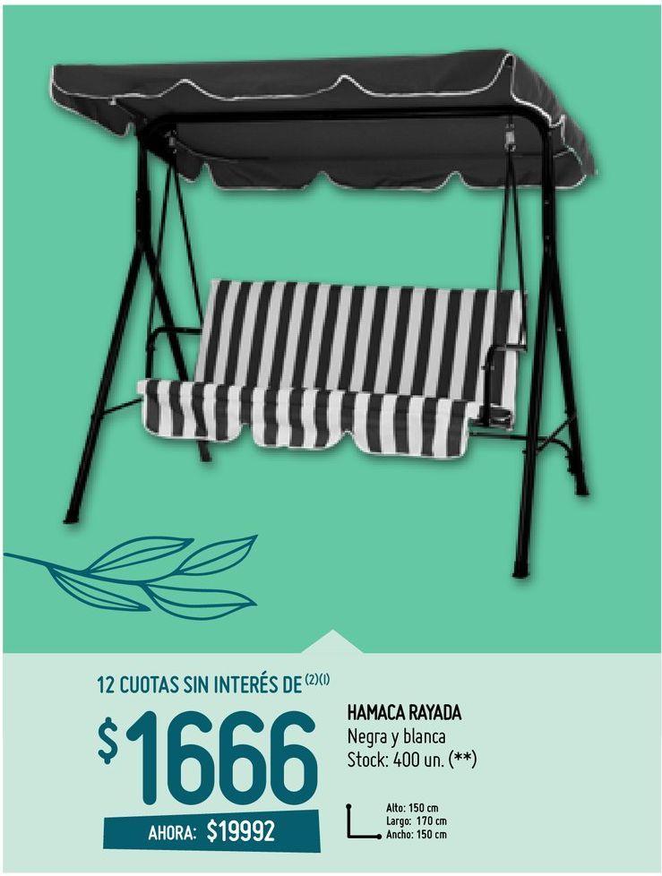 Oferta de HAMACA RAYADA por $19992