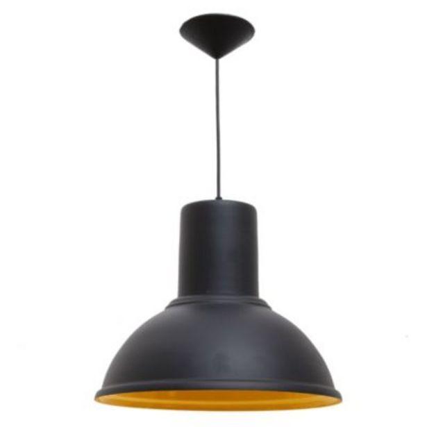 Oferta de Colgante Galponero Negro/Naranja - Faroluz por $4499