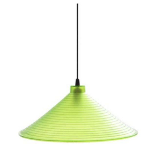Oferta de Colgante policarbonato 350 mm Ø verde - Faroluz por $1299
