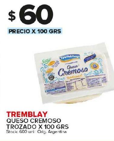 Oferta de Queso cremoso Tremblay 100g por $60