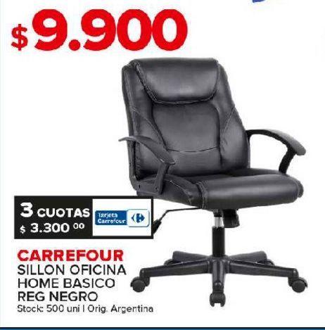 Oferta de Silla de oficina Carrefour por $9900
