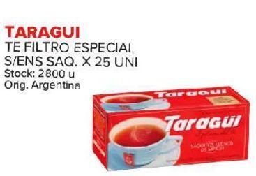 Oferta de Té negro Taraguí 25 saquitos por