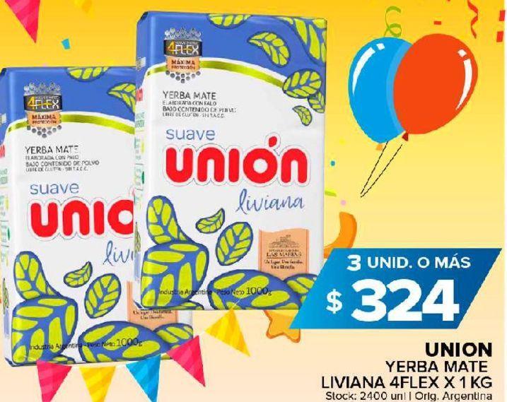Oferta de Yerba mate Unión kg por $324