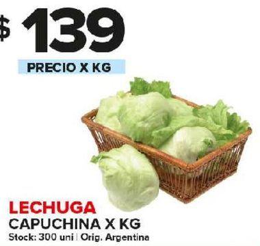 Oferta de Lechuga capuchina x kg por $139