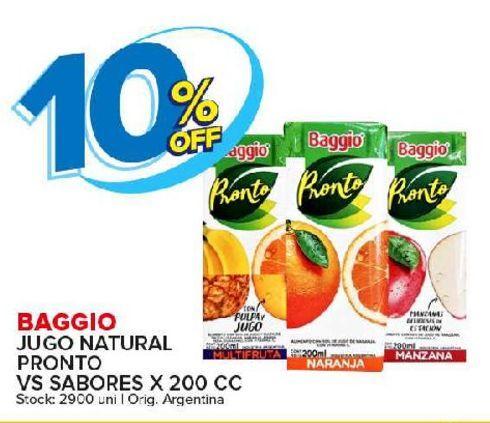 Oferta de Jugos Baggio por