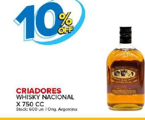 Oferta de Whisky Criadores por