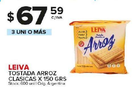 Oferta de Tostadas Leiva 150gr por $67,59