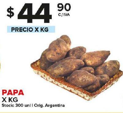 Oferta de Papa x kg por $44,9