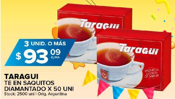 Oferta de Té negro Taraguí 50 un por $93,09