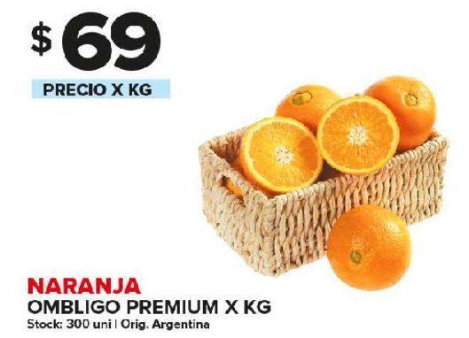 Oferta de Naranja ombligo premium x kg por $69