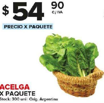 Oferta de Acelga x paquete por $54,9