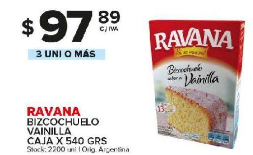 Oferta de Bizcocho Ravana 540g por $97,89