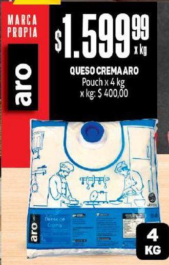 Oferta de Queso crema Aro 4kg por $1599,99