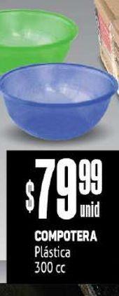 Oferta de Compotera Plástica 300cc por $79,99