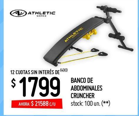 Oferta de BANCO DE ABDOMINALES CRUNCHER por $21588