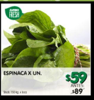 Oferta de Espinaca x un por $59