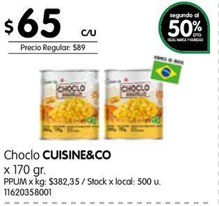 Oferta de Choclo CUISINE&CO x 170 gr por $65