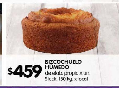 Oferta de Bizcochuelo Humedo  por $459