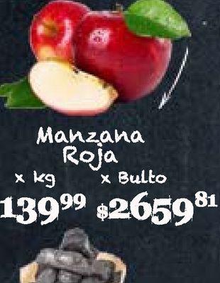 Oferta de Manzanas roja  kg por $139,99