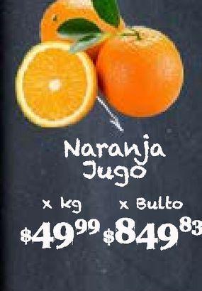 Oferta de Naranjas para jugo kg por $49,99