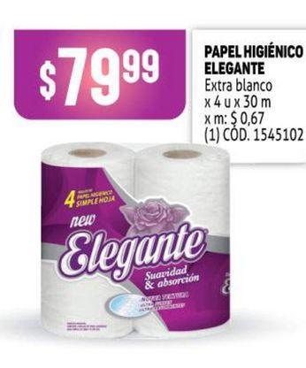 Oferta de Papel higiénico Elegante por $79,99