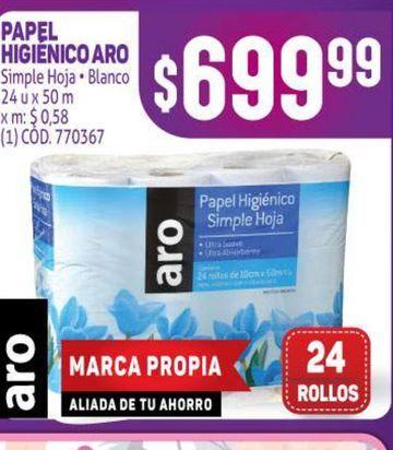Oferta de Papel higiénico Aro por $699,99