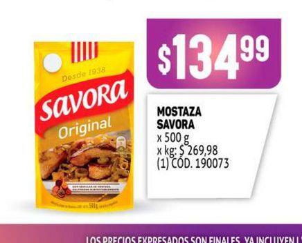 Oferta de Mostaza Savora por $134,99