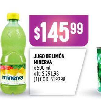 Oferta de Jugo de limón Minerva por $145,99