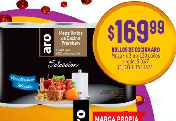Oferta de Papel de cocina Aro por $169,99